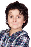 Smiling child with plaid t-shirt Royalty Free Stock Photos