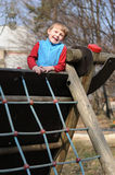 Smiling child in playground Royalty Free Stock Images