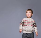 Smiling child in a pullover Stock Image