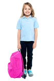 Smiling child ready to attend school Royalty Free Stock Image