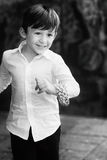 Smiling child running in the park Stock Image