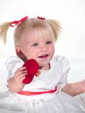 Smiling child shows heart Royalty Free Stock Photography