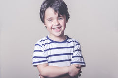 Smiling child. With striped shirt Stock Photo