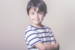 Smiling child. With striped shirt Stock Images