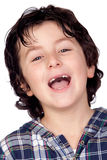 Smiling child without teeth Royalty Free Stock Image