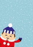Smiling child on winter background. Stock Image