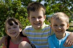 Smiling children Stock Photo