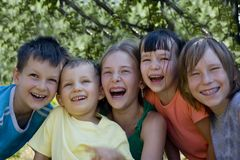 Smiling children Stock Images