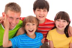 Smiling children. A group of smiling children royalty free stock photo