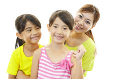 Smiling children with mother Royalty Free Stock Images