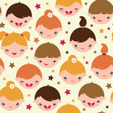 Smiling children seamless pattern background Royalty Free Stock Photos