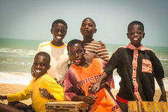 Smiling children in Senegal, Africa Royalty Free Stock Image