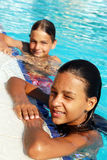 Smiling children in swimming pool Royalty Free Stock Images