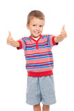 Smiling children with thumbs up sign Stock Images