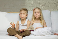 Smiling children twins Royalty Free Stock Photos