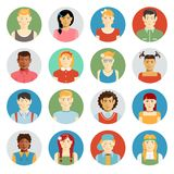 Smiling children vector avatar set Royalty Free Stock Photos