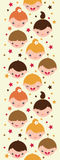 Smiling children vertical seamless pattern Stock Photo