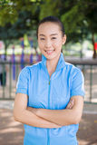 Smiling Chinese college student Royalty Free Stock Photo