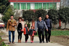 Smiling Chinese Family Royalty Free Stock Image