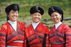 Smiling chinese minority woman Yao Stock Photography