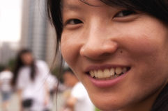 Smiling Chinese Woman Royalty Free Stock Photo