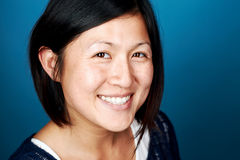 Smiling chinese woman stock image