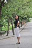 A smiling chinese woman Royalty Free Stock Images