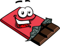 Smiling chocolate bar Stock Photos