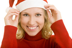 Smiling at christmas Stock Photos