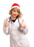 Smiling Christmas doctor Royalty Free Stock Photography