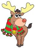 Smiling Christmas elk Royalty Free Stock Images