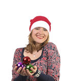 Smiling christmas girl Stock Image