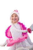Smiling Christmas Little Girl. Stock Images