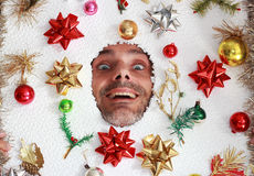 Smiling Christmas  man Stock Images