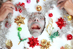 Smiling Christmas  man Stock Photos
