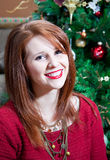 Smiling Christmas Portrait Stock Image