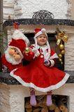 Smiling Christmas Santa Child Royalty Free Stock Photography