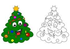 Smiling Christmas tree Royalty Free Stock Photo