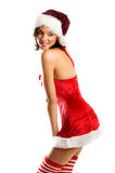 Smiling Christmas woman Royalty Free Stock Photos