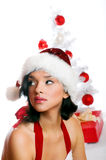Smiling Christmas woman Royalty Free Stock Image