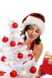 Smiling Christmas woman Royalty Free Stock Photo