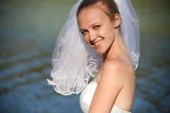 Smiling classical bride Royalty Free Stock Photos