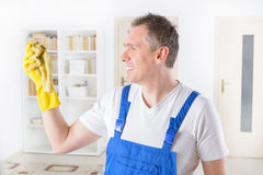 Smiling cleaner at the office Stock Photos