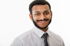 Smiling clerk. Royalty Free Stock Photography