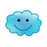 Smiling cloud. A smiling cloud. with gradients Royalty Free Stock Photography