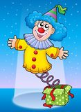 Smiling clown from box. Color illustration Royalty Free Stock Image