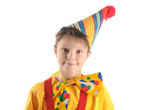 Smiling clown boy Royalty Free Stock Photo