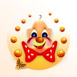 Smiling clown, cdr vector Royalty Free Stock Images