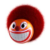 Smiling clown face emoticon sphere. Royalty Free Stock Photography