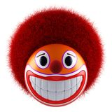 Smiling clown face emoticon sphere Royalty Free Stock Photos